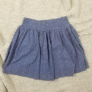 Old Navy Mini Skaker Skirt Blue Patterned Medium